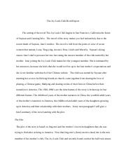 The Joy Luck Club book report.docx