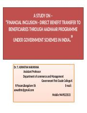 Financial Inclusion Aadhar PPT DR. TAN.pptx