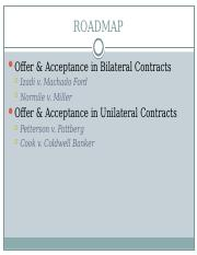 Lecture 3 Offer Acceptance in Bilateral  Unilateral Contracts Fall 2015.pptx