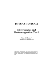 2 Kaplan Mcat Topic Test Physics Electrostatics