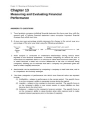 Acc 504 Measuring and Evaluating Financial Performance