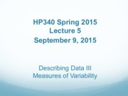 Lecture 5 - Describing Data III Variablility - SI Fall 2015(2)