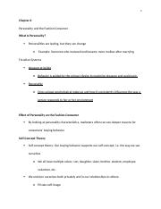 Chapter 6 Personality and Fashion Consumer Lecture note