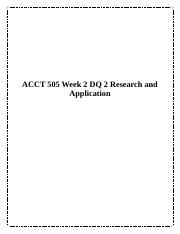 ACCT 505 Week 2 DQ 2 Research and Application.docx