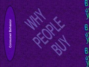 Marketing--Why People Buy