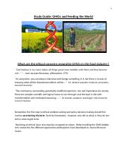 Study guide for Ethics of GMOs in the Food Industry S-2016.docx