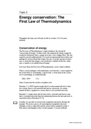 SEM314 Topic 2 - 1st Law of Thermodynamics