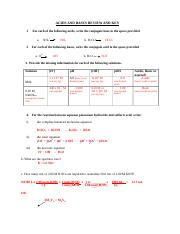 Answer Key -Rates of reactions worksheet - A RATES OF CHEMICAL ...