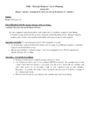 X420 S13 Lab _5 Student Instructions - Hiring Committee Interview Eval