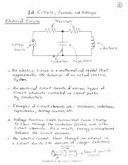 circuits, Currens, and Voltage