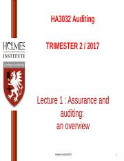 Lecture 1 Assurance and auditing an overview(1).ppt