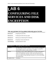 Lab Worksheet Lesson 06 Configuring File Services And Disk Encryption