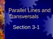 3-1 Parallel Lines and Planes