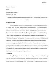 Peer Reviewed Article Analysis