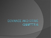 Chapter 7 Deviance and Crime