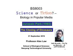 BS8003 Lecture 7