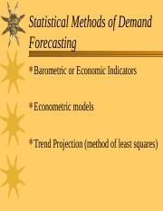Statistical Methods of Demand Forecasting.ppt