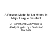 A_Poisson_Model_for_No-Hitters_In_Major_