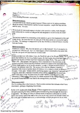 close reading notes