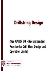 5 PETE 355 Drillstring Design