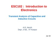 L6 - Transient Analysis of Capacitive And Inductive Circuits