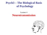 Lecture 4-Neurotransmission