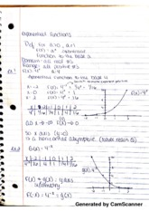 Exponential Functions Notes