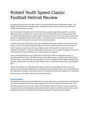 Riddell Youth Speed Classic Football Helmet Review (2).docx