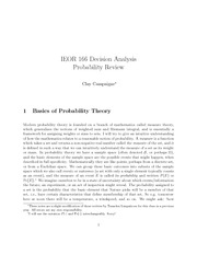 Probabiliy Review