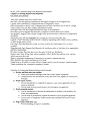 BUSA 2105 Chapter 12 Key terms and Checklist