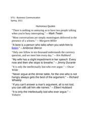 Humorous Quotes On Communication