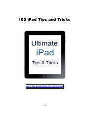 100 ipad Tips and tricks