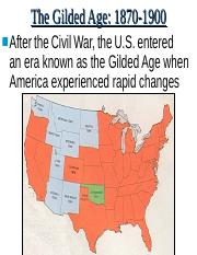 #1 Gilded Age--The West
