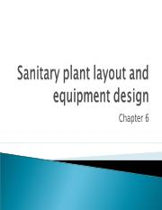 Chapter_6_Sanitary plant layout and equipment design.ppt
