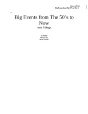 Big Events from The 50(2)
