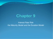 Week05 - Ch09 - Interest rate risk - the duration model