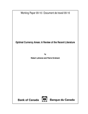 6. Optimal Currency Areas: A Review of the Recent Literature