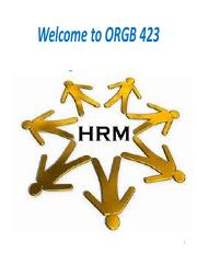 Ch 1 - Challenges of HRM