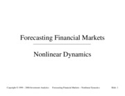 Forecasting 1999 - NonLinear Dynamics