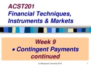 ACST201 Week 9 Lecture
