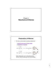 Chapter 6-Reactions of Alkenes