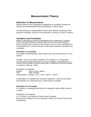 2. Measurement theory  (1).doc