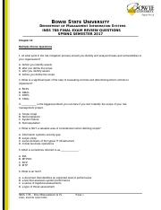 INSS778_Final Review Questions_Spring 2017