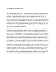 The Marshall Plan and the Berlin airlift