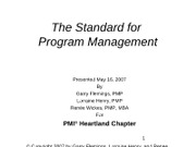 Standard for Program Mgmt