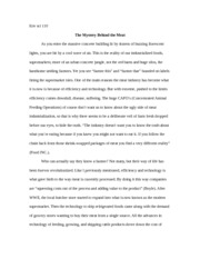 110 term paper the mystery behind the meat