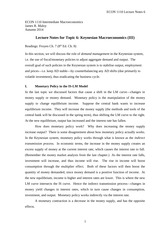 ECON 1110 Lecture Notes 06
