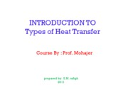 Microsoft PowerPoint - INTRODUCTION TO Types Of Heat Transfer
