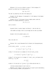 Lecture notes on Permutations and Groups part 3