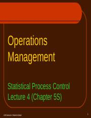 OML3S - Statistical Process Control